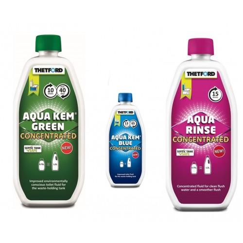 3 lü Kimyasal Set( Aqua Kem Blue Konsantre, Aqua Rinse Pembe, Aqua Kem Green Konsantre)