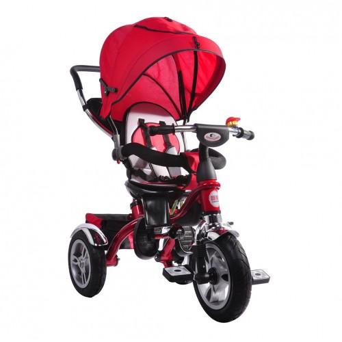 AndCar Ebeveyn Kontrollü İtmeli Çocuk Bisiklet-KIRMIZI