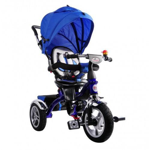 AndCar Ebeveyn Kontrollü İtmeli Çocuk Bisiklet-MAVİ