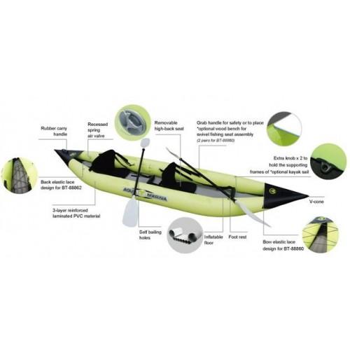 Aqua Marina K1 Advanced Kayak Inflatable Floor Kürekli