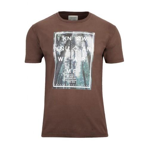 Berg Manu Erkek T-Shirt-KAHVERENGİ