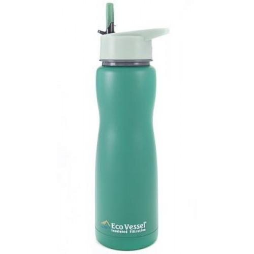Eco Vessel Aqua Vessel Insulated Filtre Bottle Termos 0.75 Litre-YEŞİL