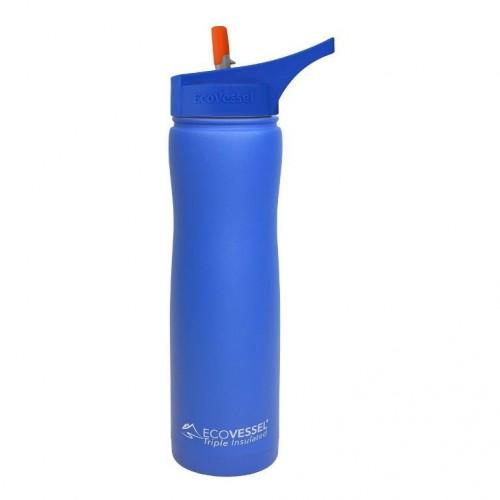 Eco Vessel Summit Insulated Steel Straw Bottle Termos 0.75 Litre-MAVİ