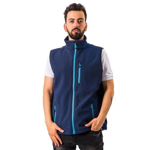 FreeCamp Vest Erkek Softshell Yelek-LACİVERT