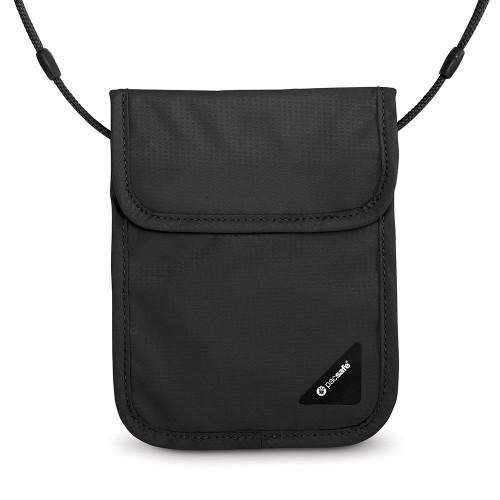 Pacsafe Coversafe X75 Anti-Theft Rfid BlocKing Boyun Çantası-SİYAH