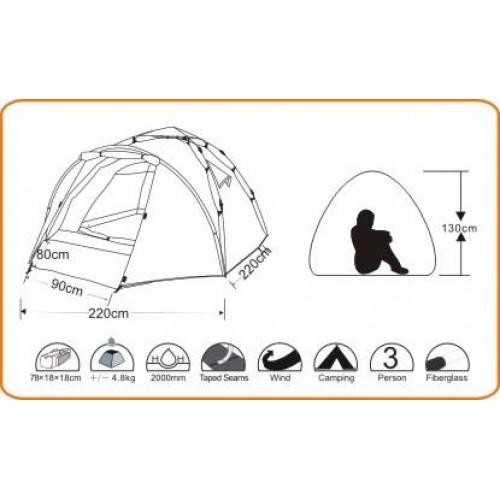Wildland Moon Nest 200 3 Mevsim 2 Kişilik Kamp Çadırı