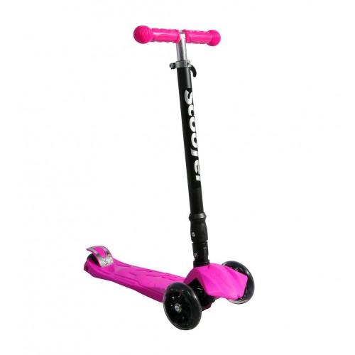 Xslide Işıklı Tekerlekli Scooter-PEMBE