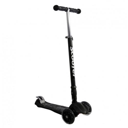 Xslide Işıklı Tekerlekli Scooter-SİYAH
